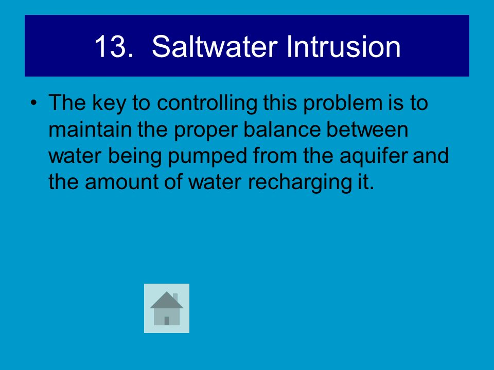 13. Saltwater Intrusion