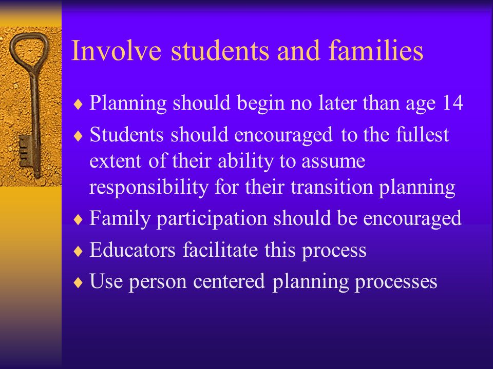Involve students and families