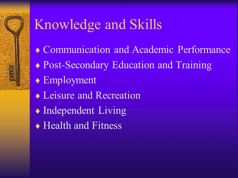 Knowledge and Skills Communication and Academic Performance