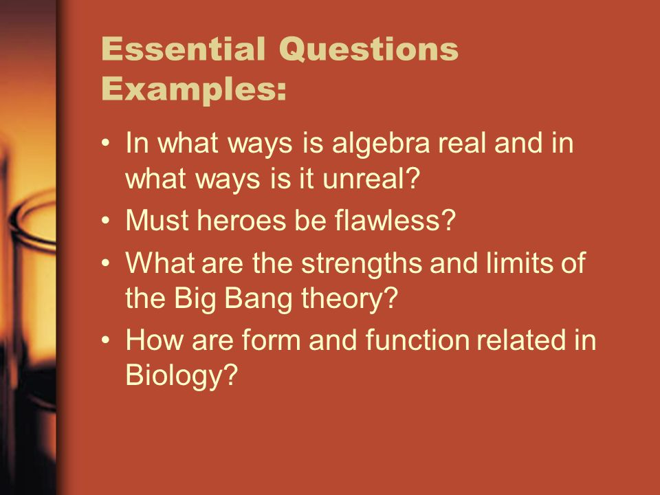 Essential Questions Examples: