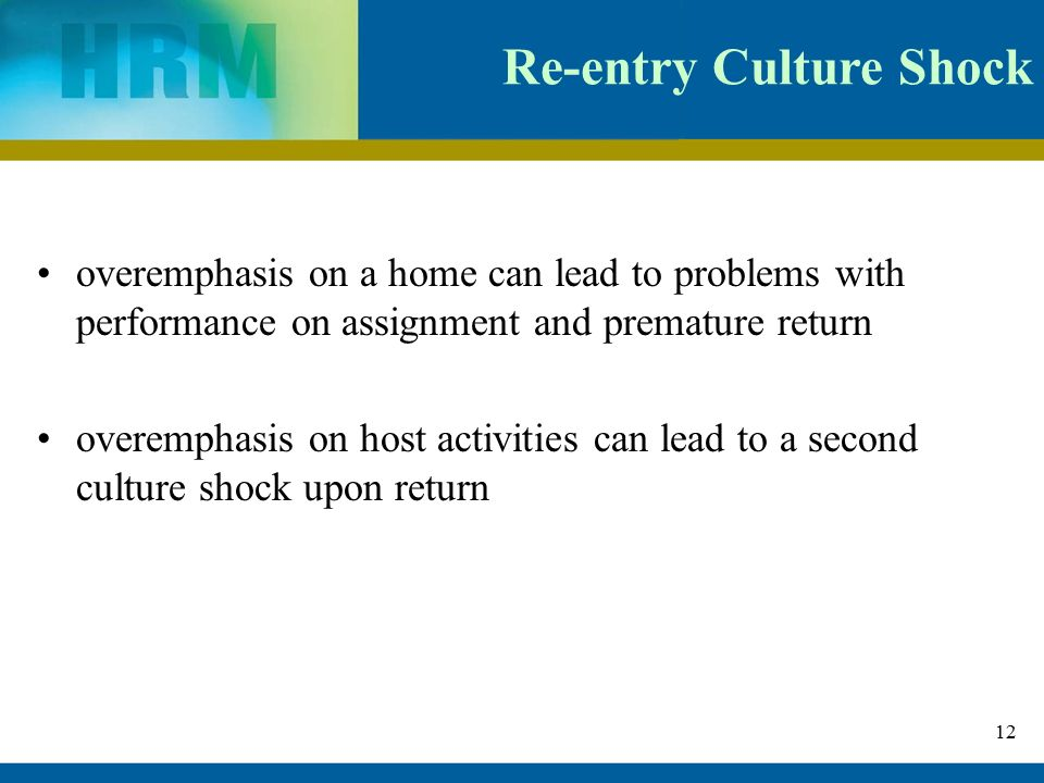 what factors contribute to re entry shock Re-entry shock and readjustment difficulty, which could be generally described by   executives, harvey (1982) states that one of the contributing factors in the.
