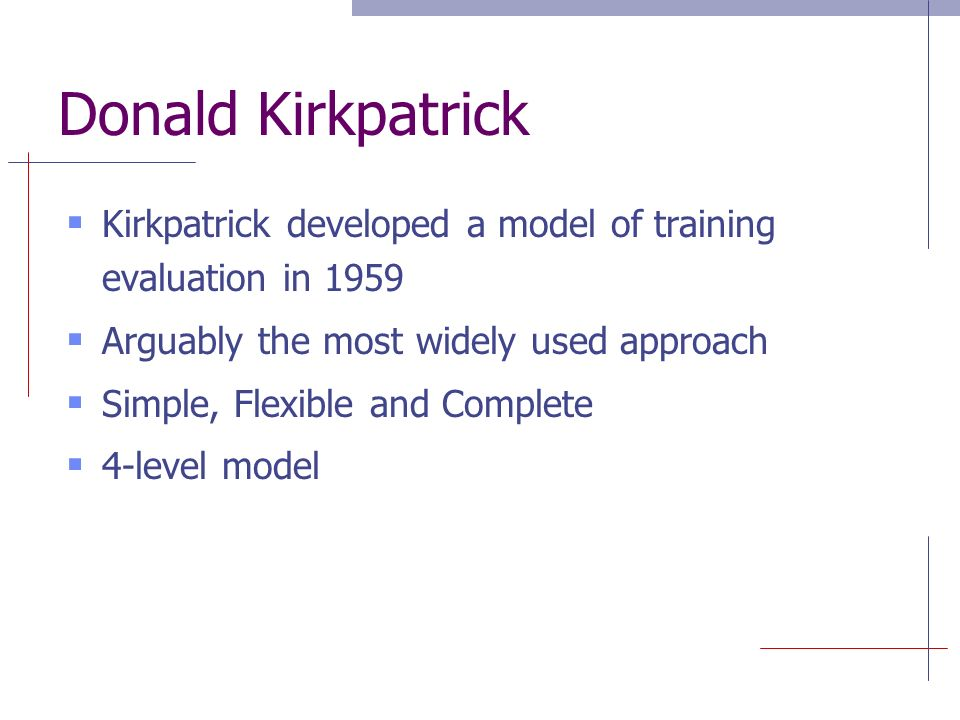 Kirkpatrick'S Levels Of Evaluation - Ppt Video Online Download