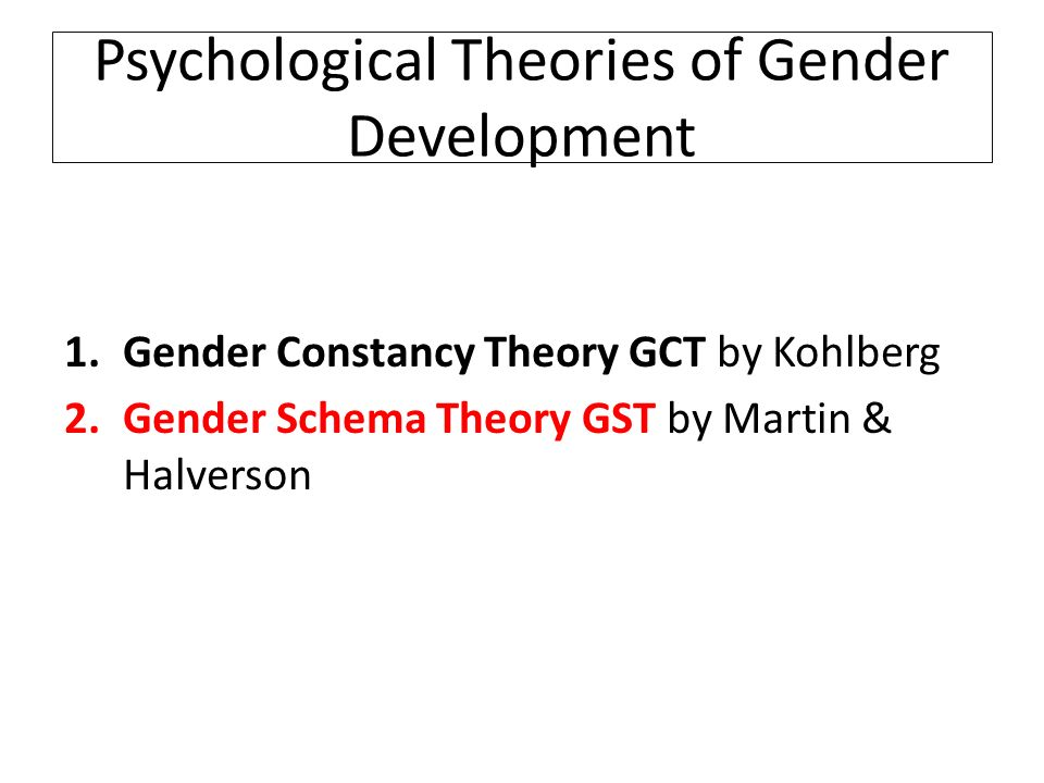 gender schema theory Gender schema theory are you a little dismayed that your preschool-aged daughter wants to take a princess class or that your preschool-aged son wants to take a superheroes class.