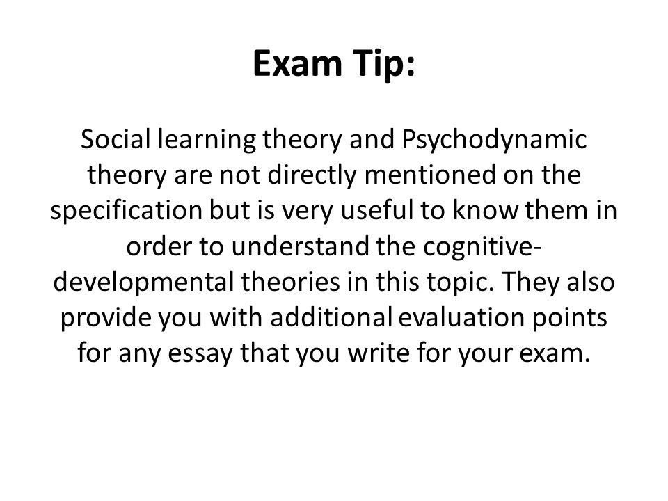 unit gender development ppt  52 exam tip social learning theory