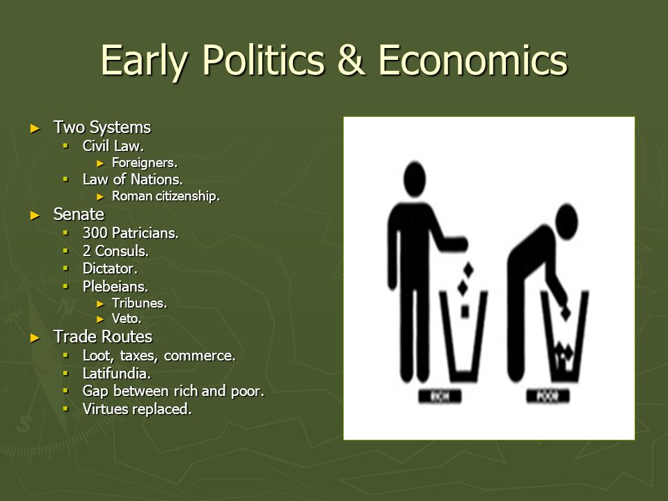 Early Politics & Economics