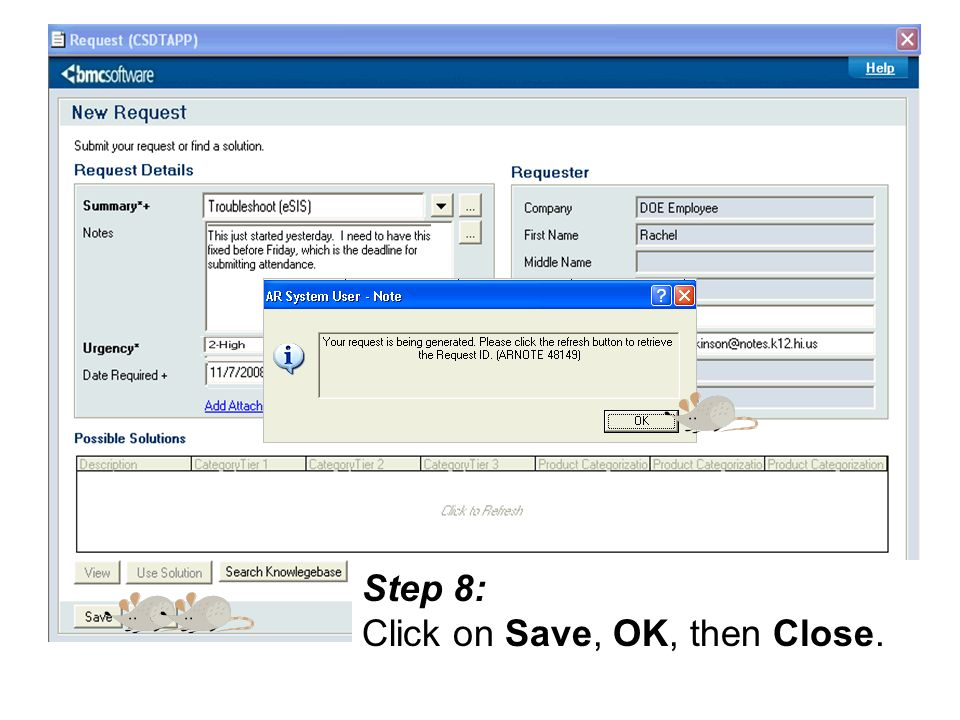 Step 8: Click on Save, OK, then Close.