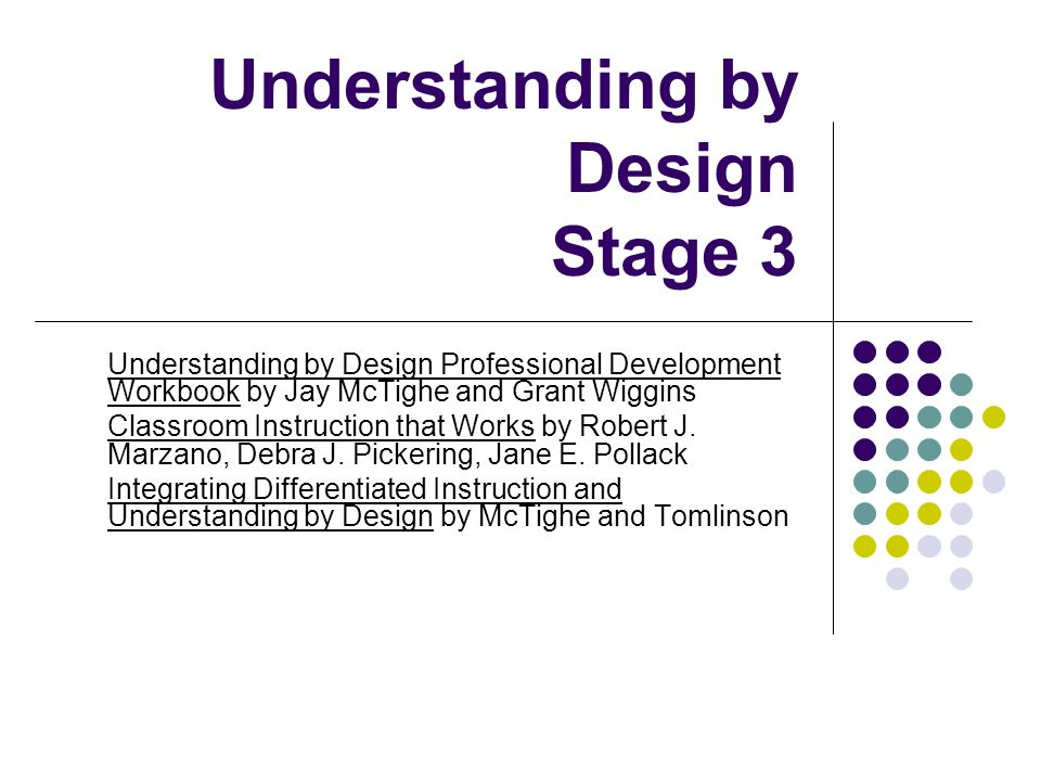 Understanding by Design Stage 3