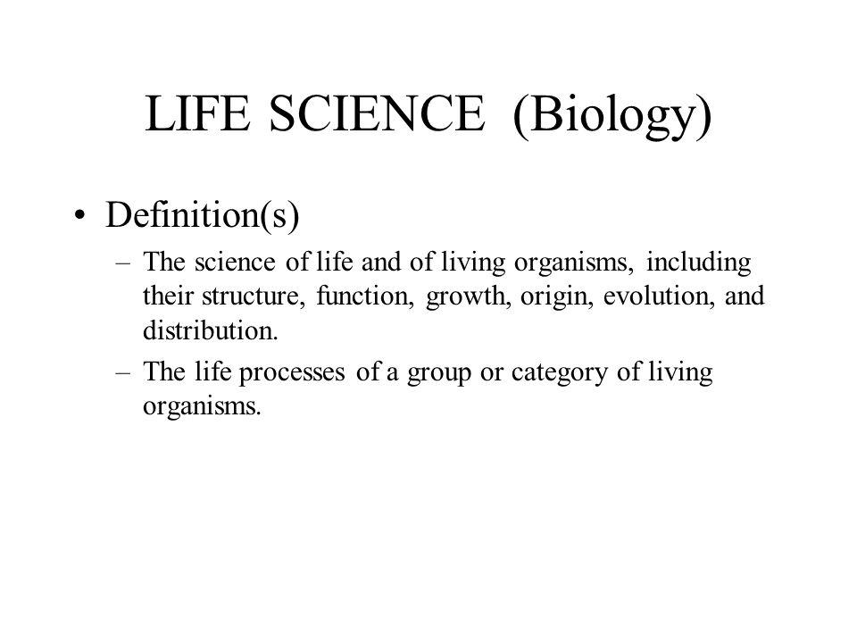 LIFE SCIENCE (Biology)