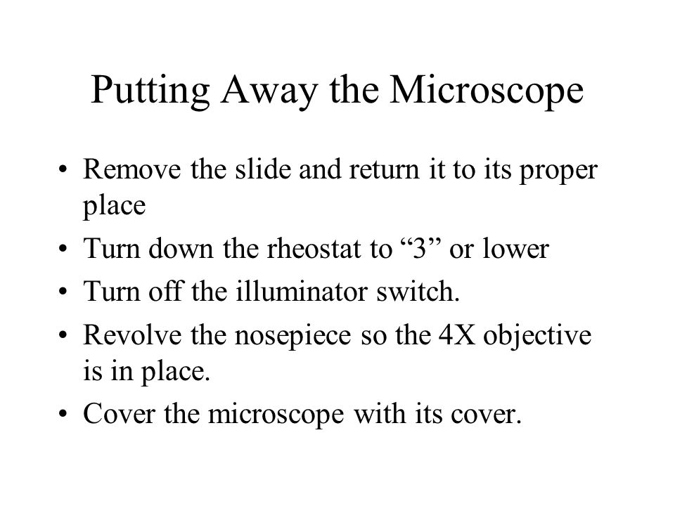 Putting Away the Microscope