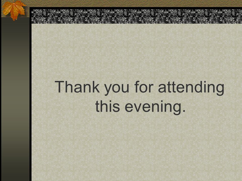 Thank you for attending