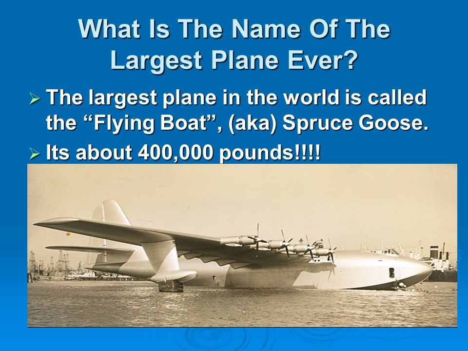 What Is The Name Of The Largest Plane Ever