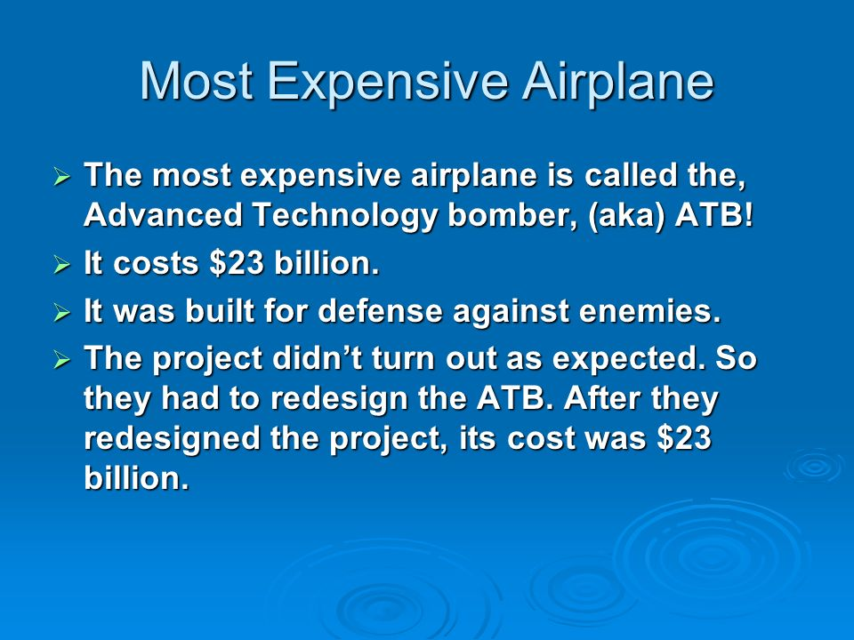Most Expensive Airplane