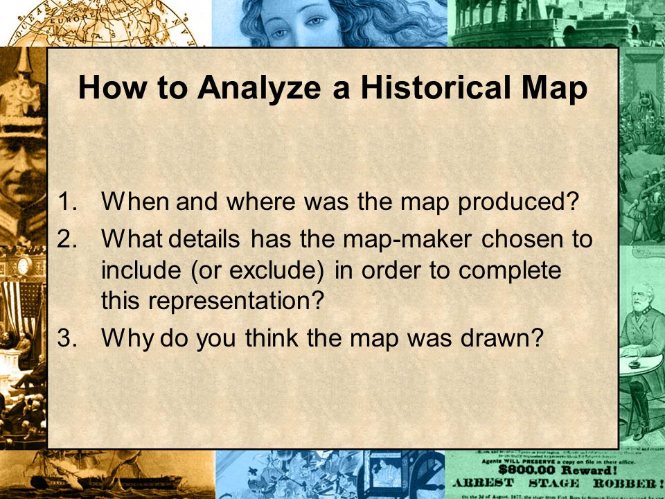 How to Analyze a Historical Map
