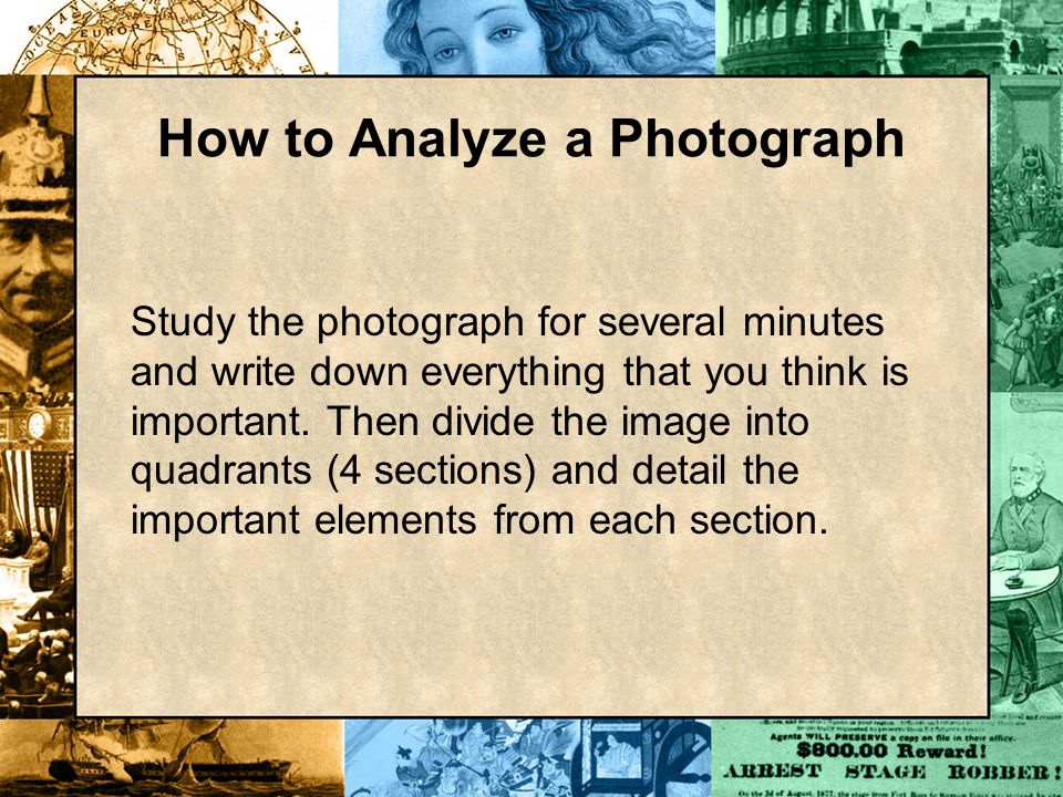 How to Analyze a Photograph