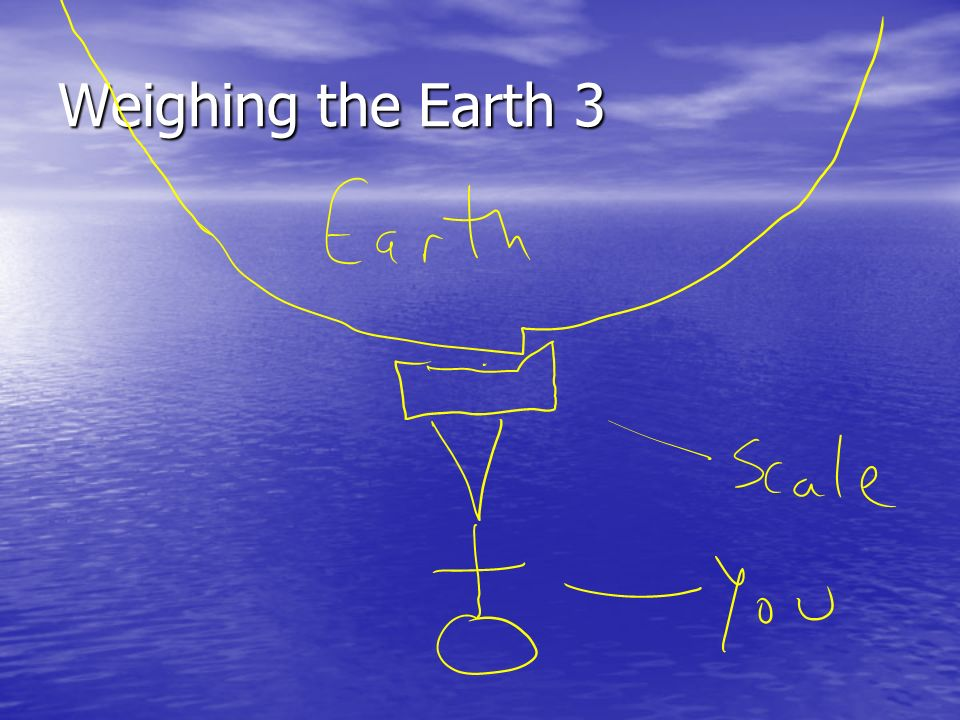 Weighing the Earth 3