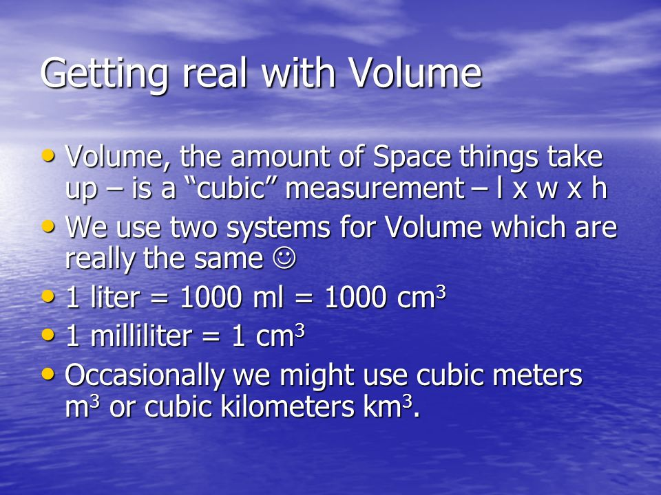 Getting real with Volume