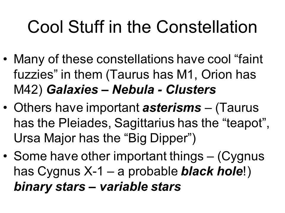 Cool Stuff in the Constellation