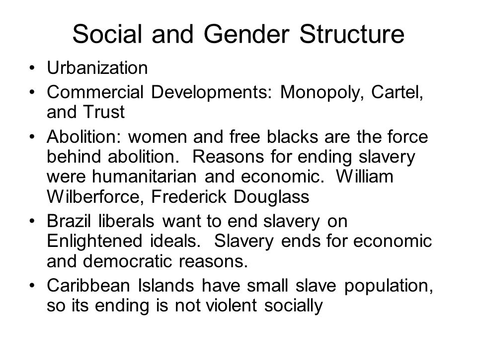 Social and Gender Structure
