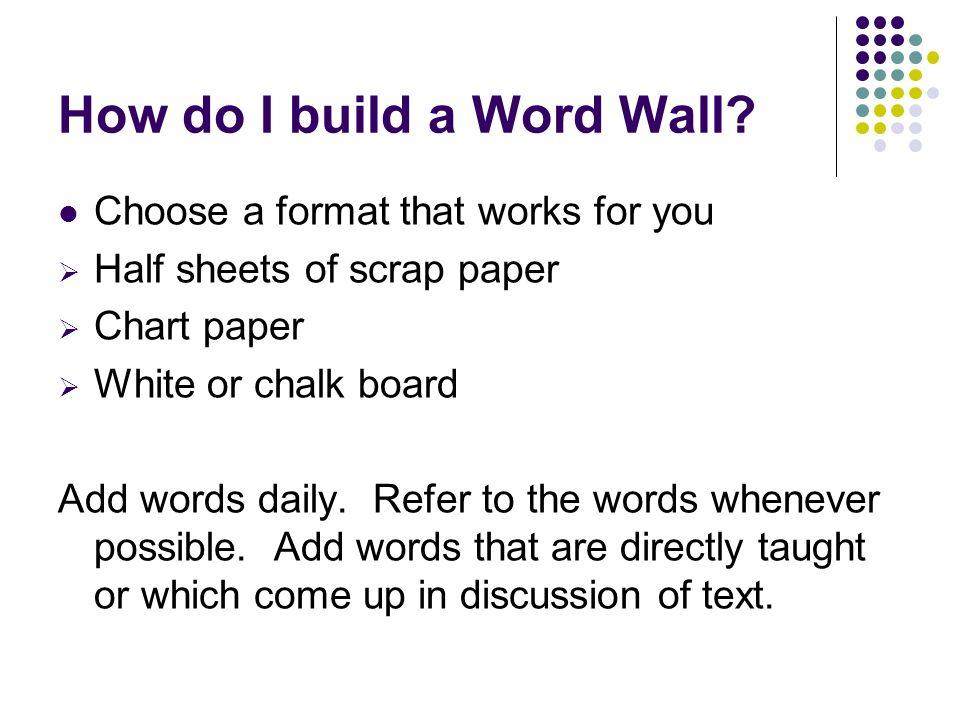 How do I build a Word Wall