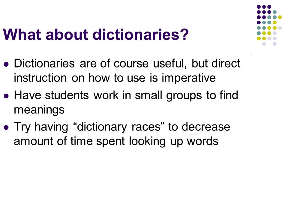 What about dictionaries