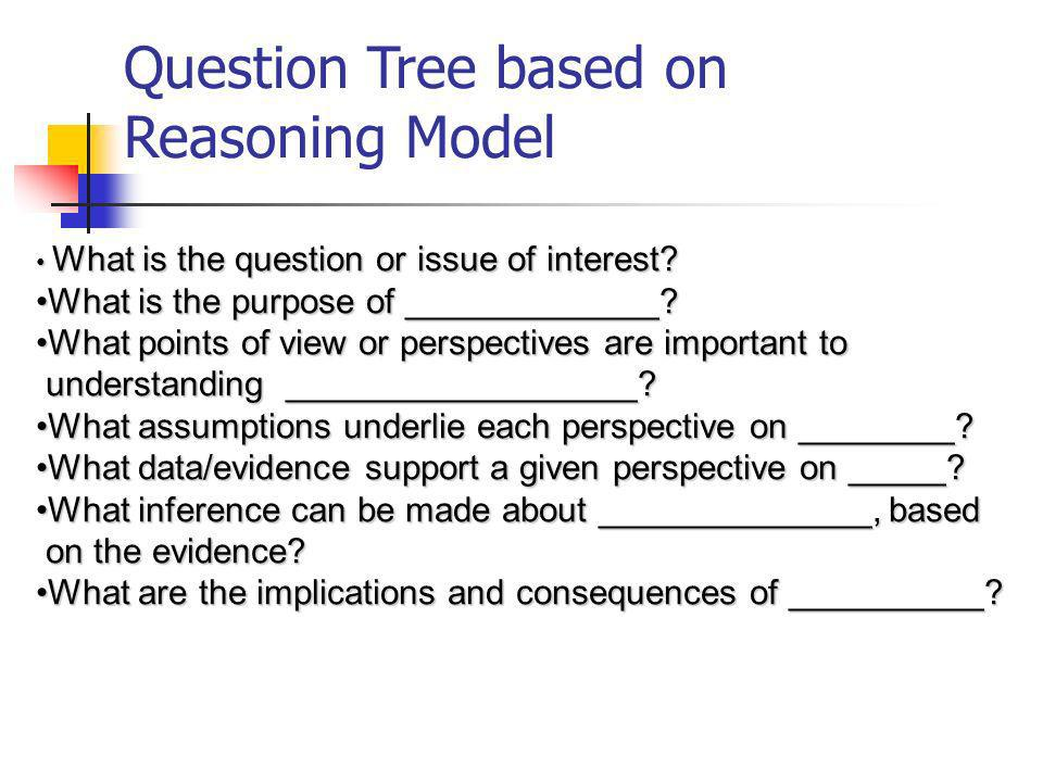 Question Tree based on Reasoning Model