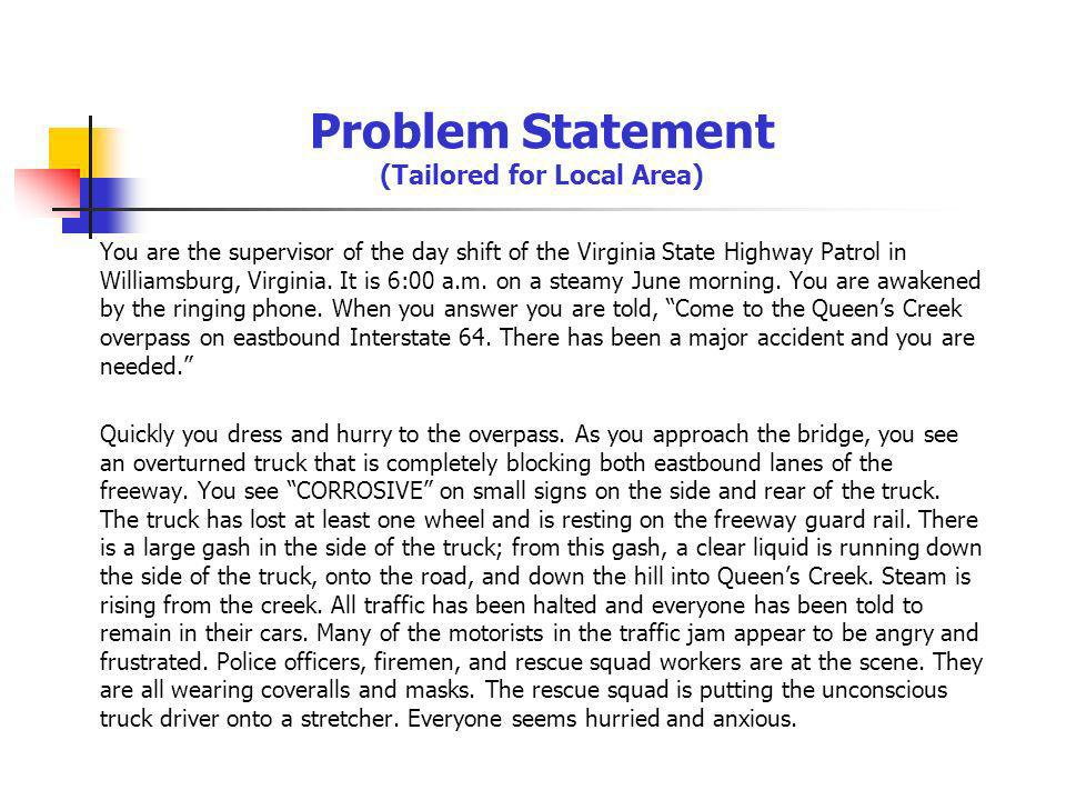 Problem Statement (Tailored for Local Area)