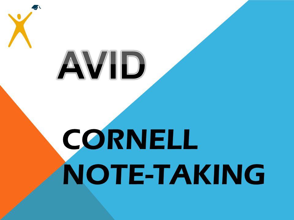 AVID CORNELL NOTE-TAKING