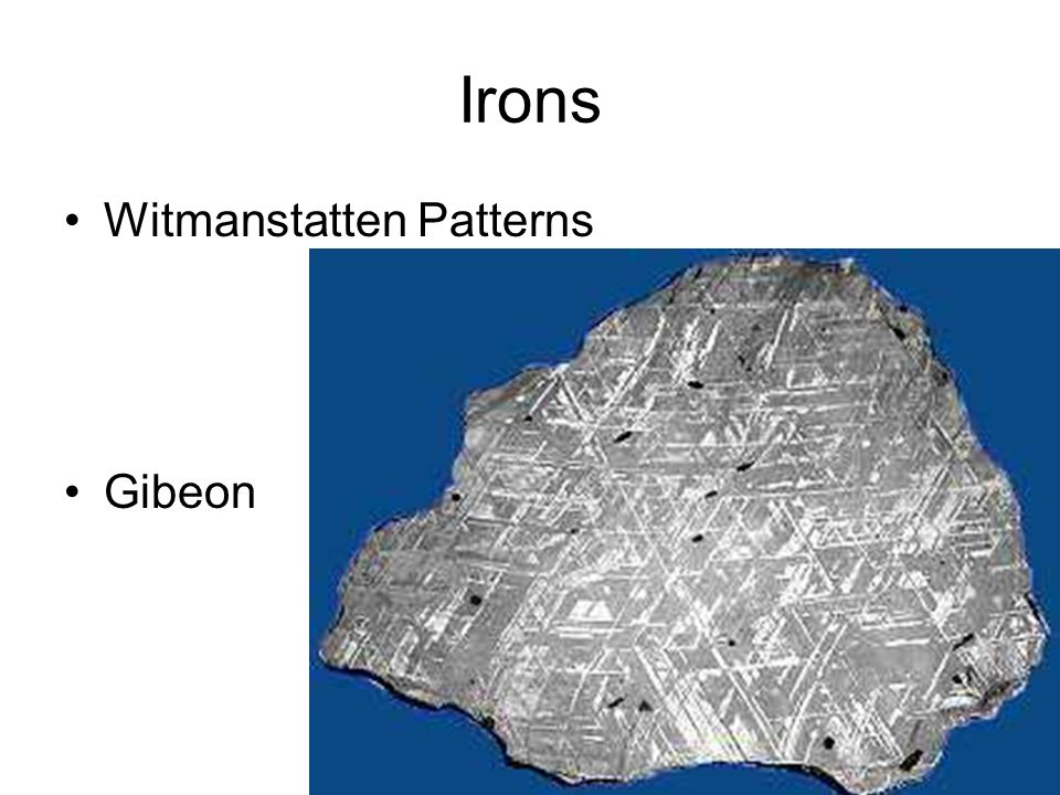 Irons Witmanstatten Patterns Gibeon