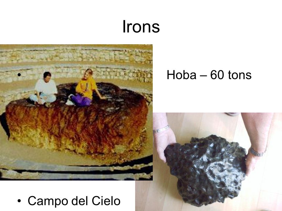 Irons Hoba – 60 tons Campo del Cielo