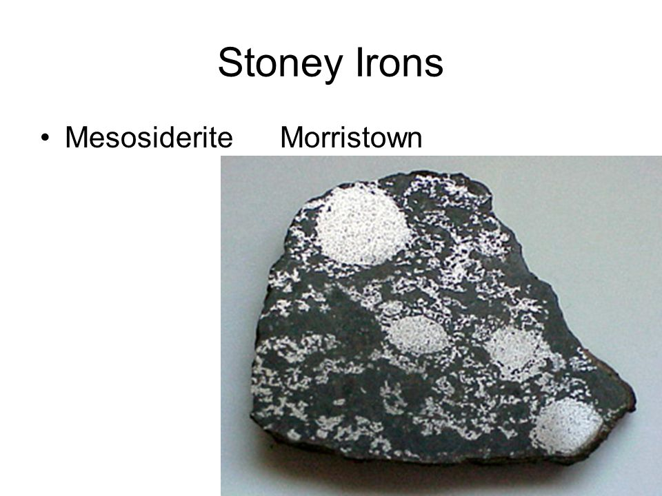 Stoney Irons Mesosiderite Morristown