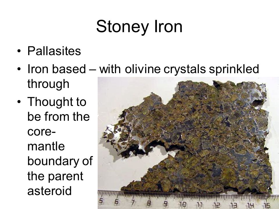 Stoney Iron Pallasites