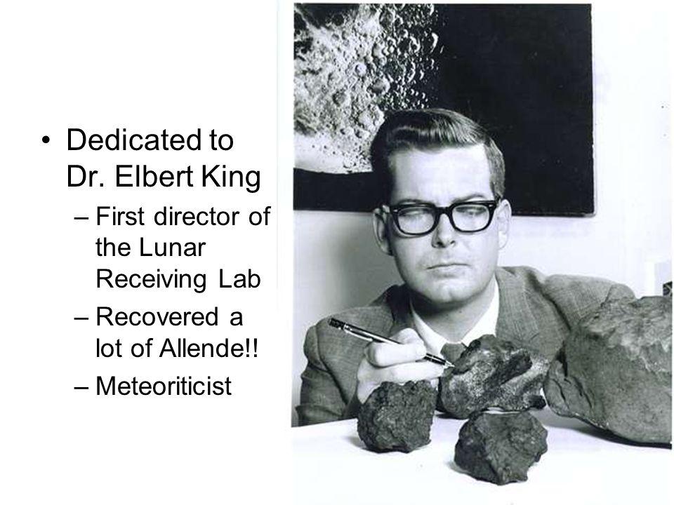Dedicated to Dr. Elbert King