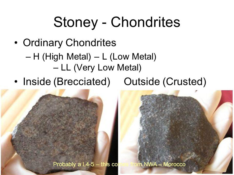 Stoney - Chondrites Ordinary Chondrites