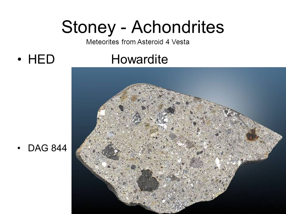 Stoney - Achondrites HED Howardite DAG 844