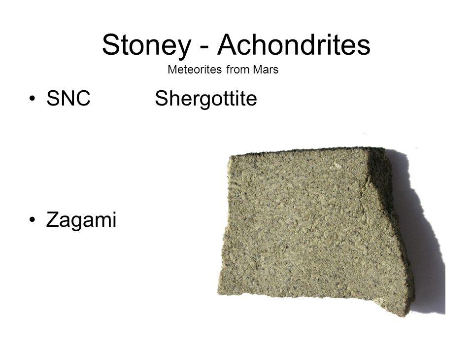 Stoney - Achondrites Meteorites from Mars SNC Shergottite Zagami