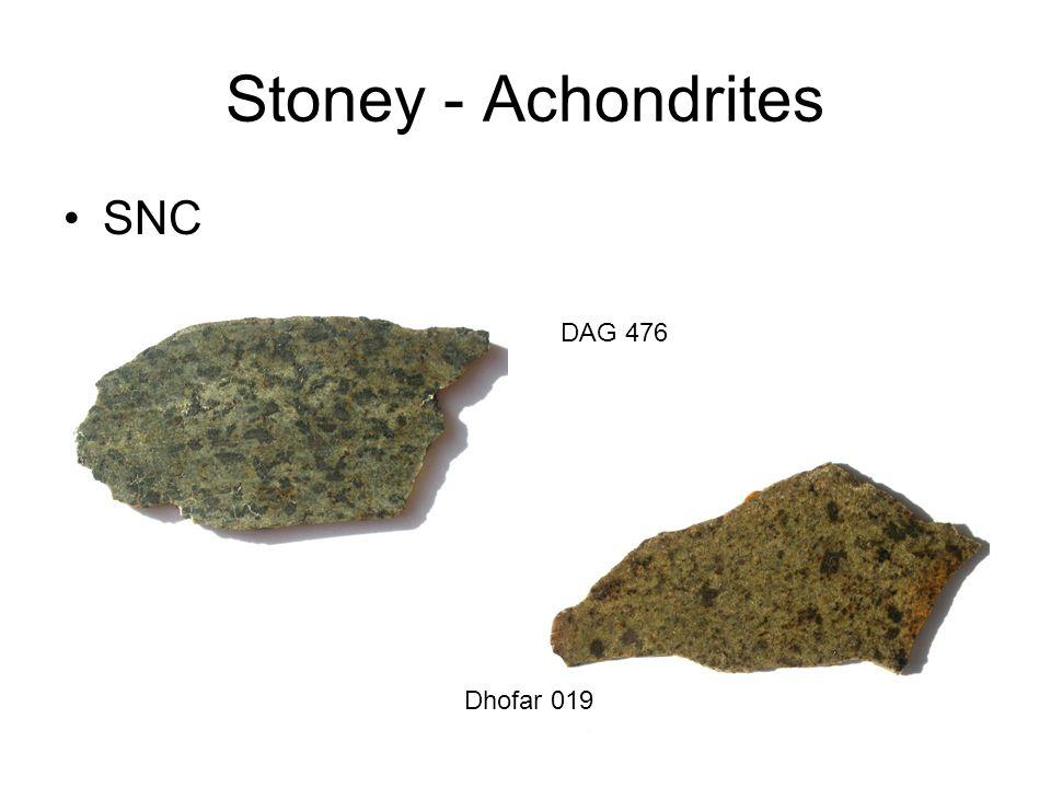 Stoney - Achondrites SNC DAG 476 Dhofar 019
