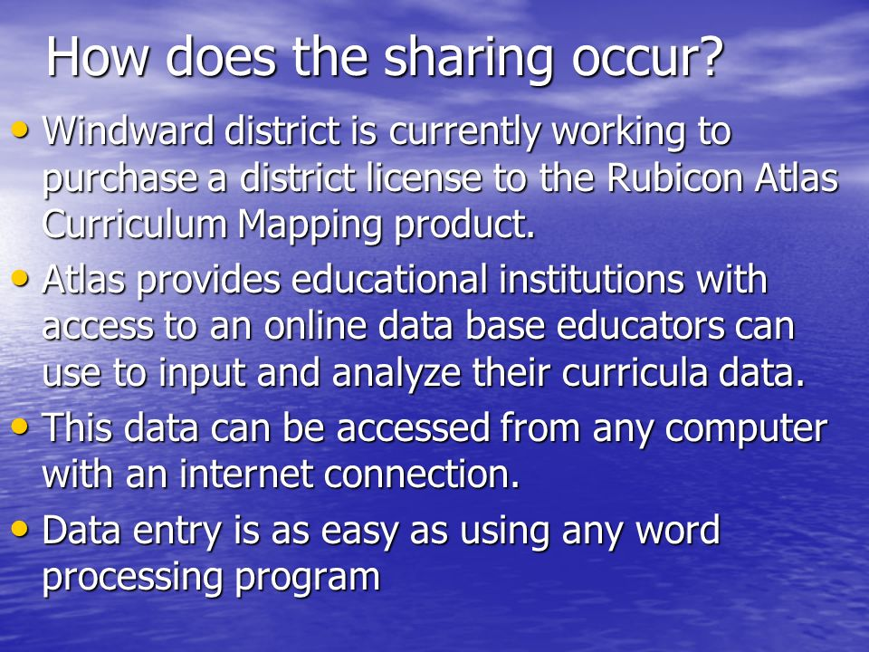 How does the sharing occur