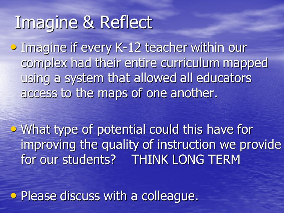 Imagine & Reflect