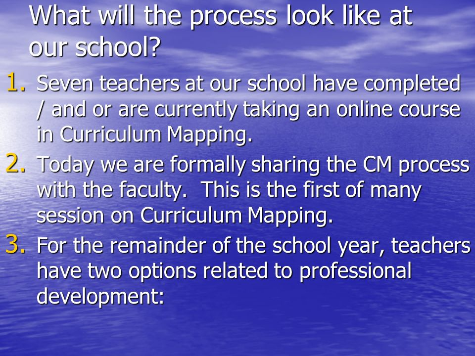 What will the process look like at our school