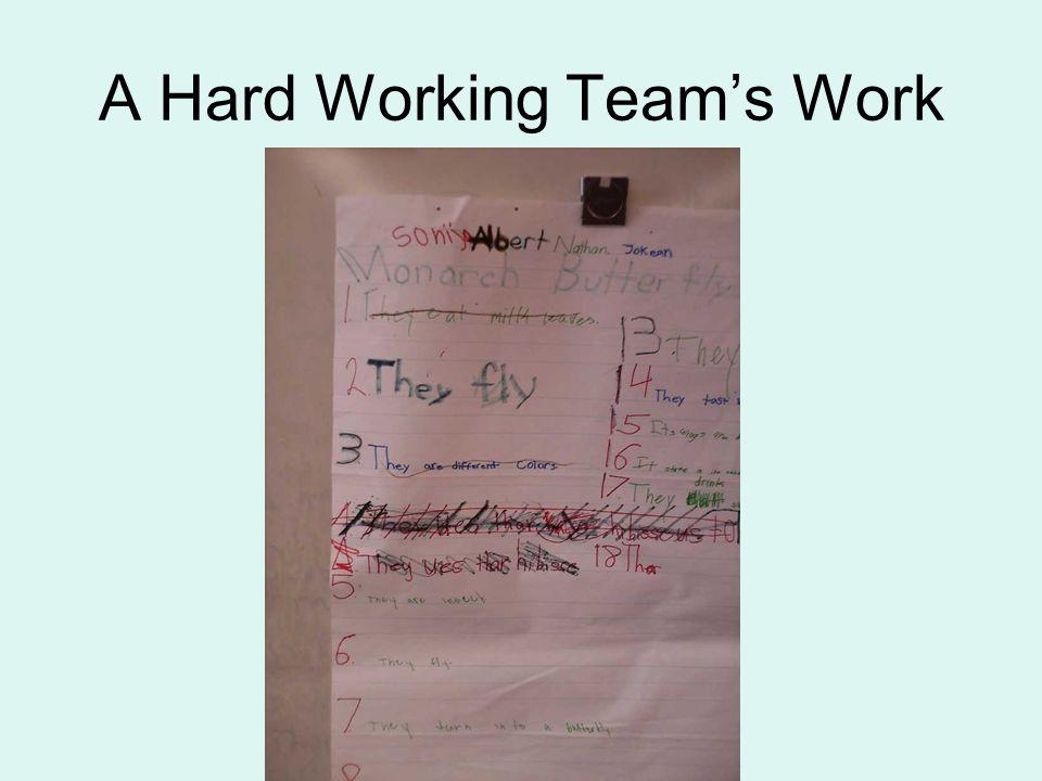 A Hard Working Team's Work