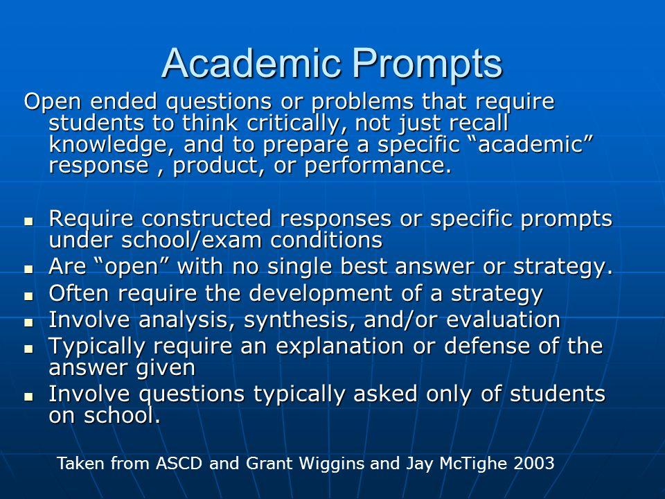 Academic Prompts