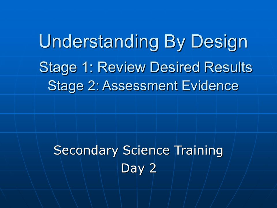 Secondary Science Training