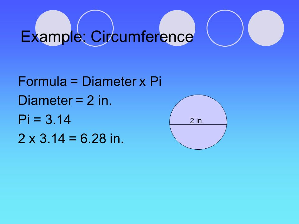 Example: Circumference
