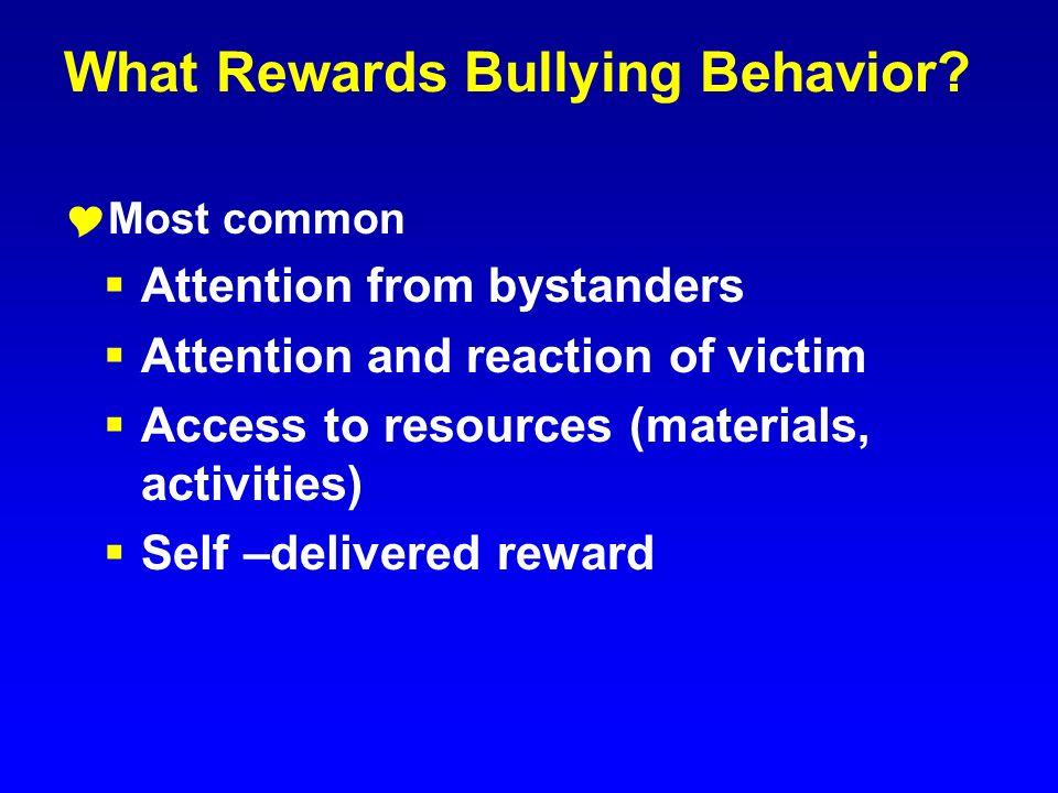What Rewards Bullying Behavior
