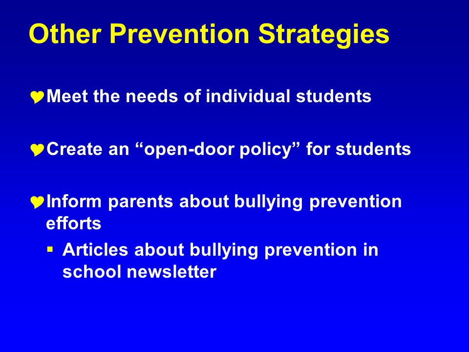 Other Prevention Strategies