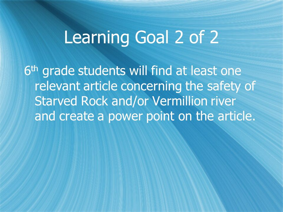 Learning Goal 2 of 2