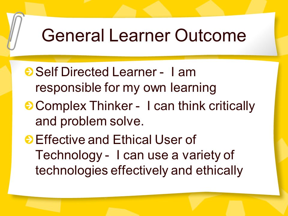 General Learner Outcome