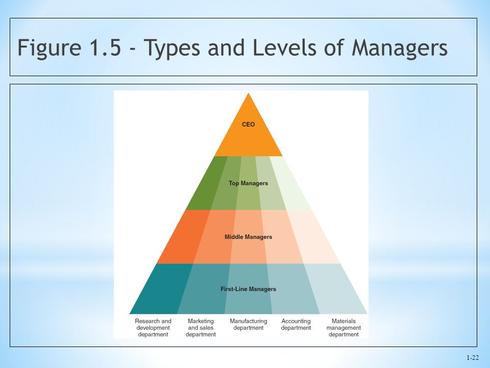 Figure 1.5 - Types and Levels of Managers
