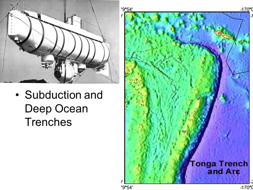 Subduction and Deep Ocean Trenches