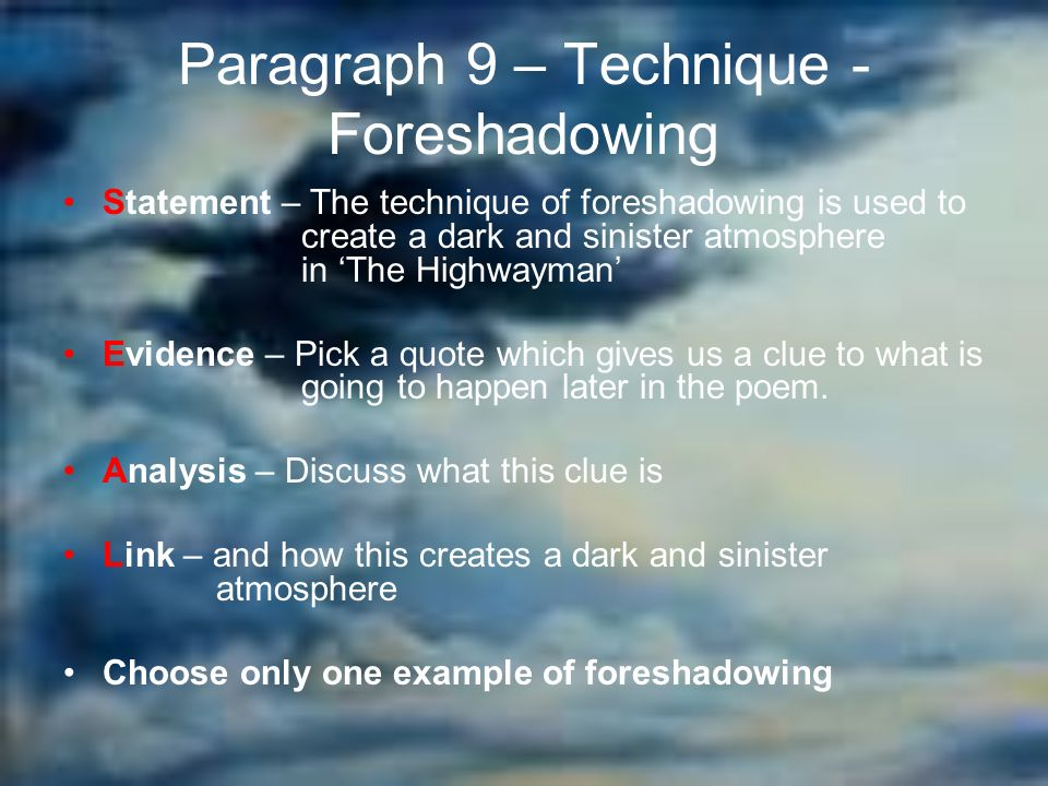 the highwayman essay plan ppt video online  10 paragraph